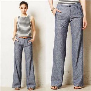 Pilcro & The Letterpress Wide Leg Linen Pants 10